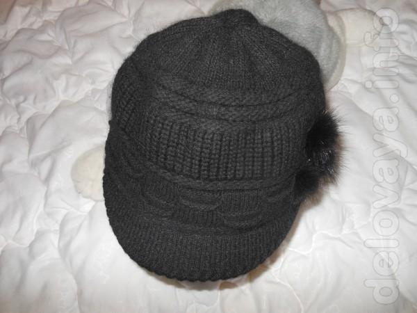 Шапка   Шапочка чёрного цвета, из ангоры, хорошего качества ,  тёп