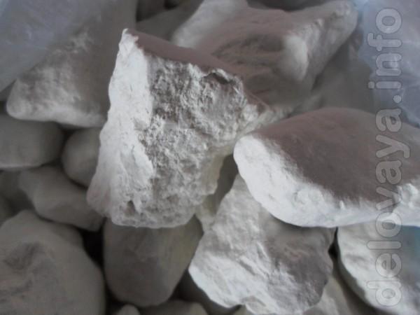 Продам природный кусковой мел и кусковую глину белую(каолин), голубую