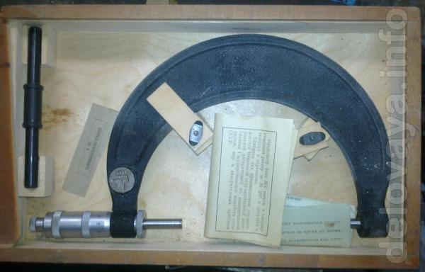 Инструмент: микрометры от 25 до 600мм, толщиномеры ручные, настольные