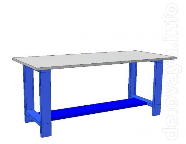 Стол изготовлен из металла, окрашенного порошковой краской, столешниц